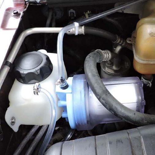 Instalação do filtro, secador de hidrogênio HHO