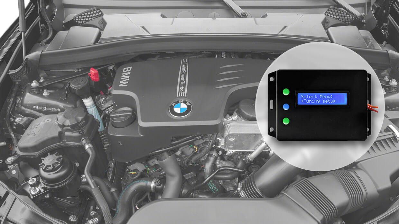 Instalação do controlador do motor para economizar combustível em carros a gasolina